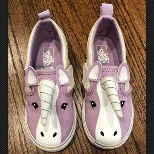 Other - Vans Toddler Sz 8.5 purple Glitter Unicorn shoes